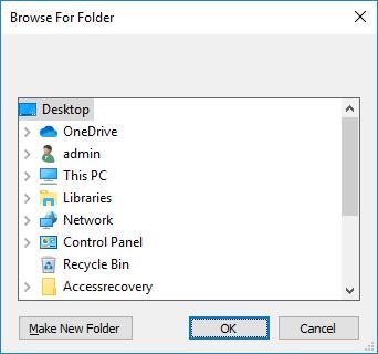 browse folder