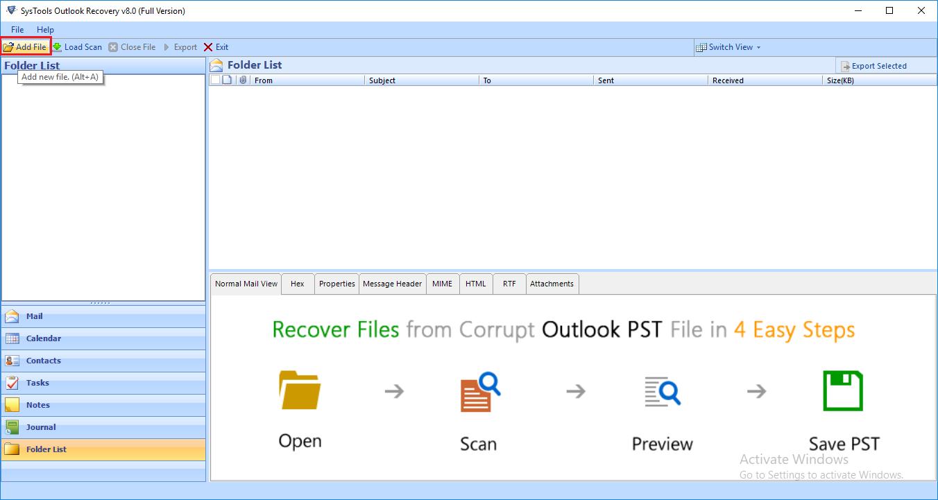 Outlook Data File Repair